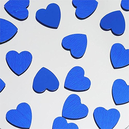 Efavormart Dreamy Metallic Foil Wedding-Party Heart Confetti Sprinkles- 300 PCS-Royal Blue