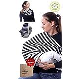Breastfeeding Nursing Cover Scarf - Stretchy Infinity Nursing Shawl - Baby Nursing Wrap - All-in-1 Maternity Nursing Covers - Shopping Cart, Stroller, Crib, Milk Feeding, Pumping Long Covers