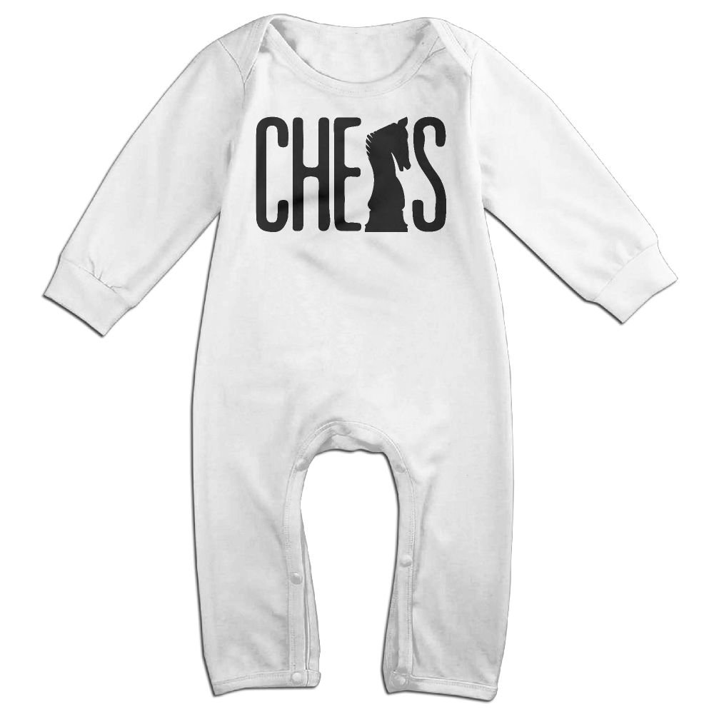 Newborn Baby Organic Coverall Chess Silhouette Infant Long Sleeve Romper Jumpsuit