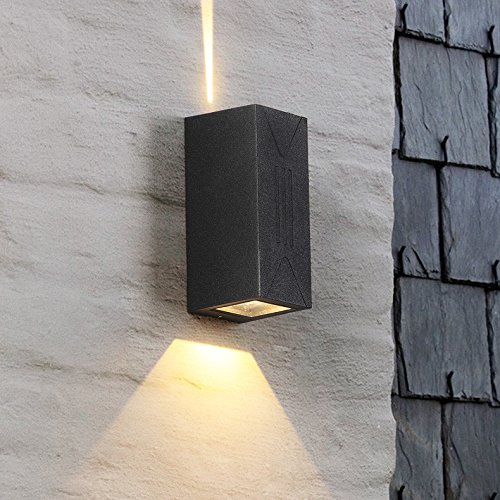 Sisanlai Lampe De Mur Haut Bas Applique Murale Mur Extérieur Moderne