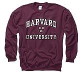 Harvard University Arch White In Black Out Seal Crew Neck Sweatshirt S Maroon