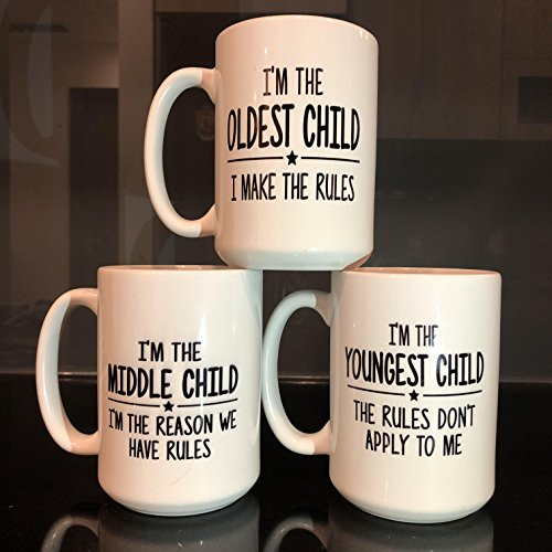 The Child Rules 15 oz Mugs Set: I'm the oldest Child,I for sale  Delivered anywhere in USA