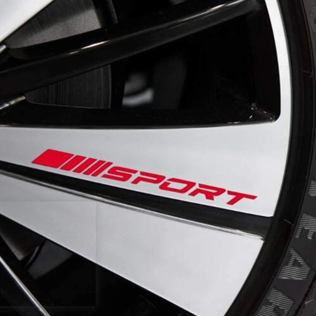 4PCS Sport Reflect Light Car Decal Sticker Wheels Rims Racing Car Sticker Emblem Logo Car Door Rims Wheel Hub Decal Auto Accessories Decor