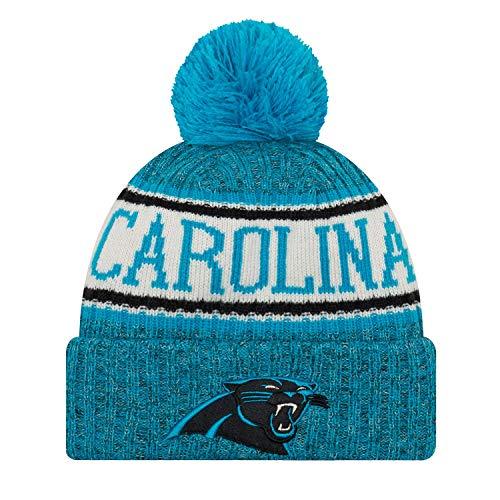 New Era Carolina Panthers 2018 NFL Sideline On Field Sport Knit Hat - - Blue Knit Beanie Sideline