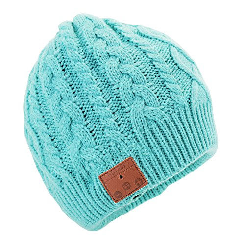 - Tenergy Wireless Bluetooth Beanie Hat with Detachable Stereo Speakers & Microphone, Fleece-Lined Music Beanie for Women Outdoor Sports, Braid Cable Knit (Tame Teal)