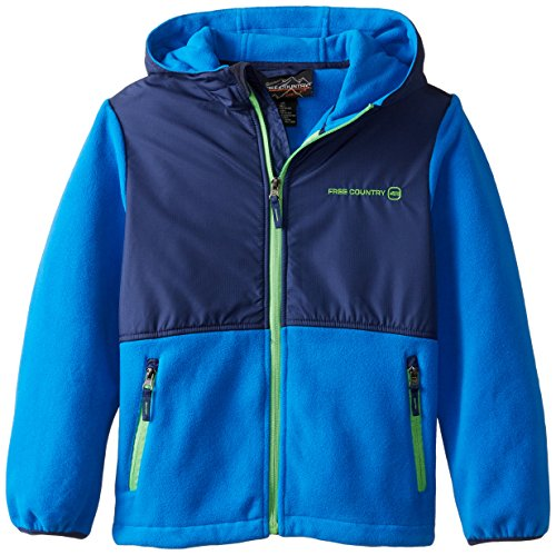 16 Full Zip Hooded Fleece (Free Country Big Boys' Fleece Full Zip Hooded Jacket, Electric Blue,)