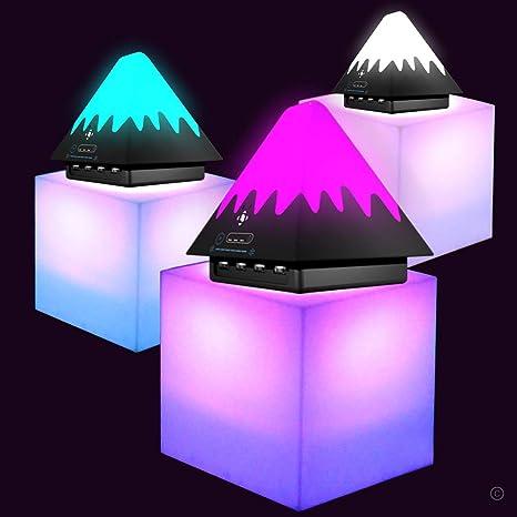 L/ámpara de Mesilla de Noche con Sensor T/áctil luz C/álida Regulable y Linterna Port/átil para Exteriores que Cambia de 7 Colores L/ámpara de Altavoz Bluetooth Regalos para Mujeres Ni/ños