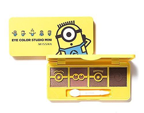 [Missha] Minions Edition Eye Color Studio Mini Palette 7.2g (#1 Cool Tone) -