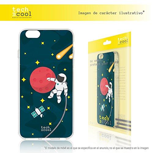 FunnyTech @ TPU Schutzhülle für iPhone 6Plus/6S Plus [Gel Silikon Flexible hochwertige] [Ultra Slim 1,5mm-gran Widerstand] [Exklusives Design, High Definition] [Space Astronaut]