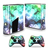 MightySkins Protective Vinyl Skin Decal Cover for Microsoft Xbox 360 S Slim + 2 Controller skins wrap sticker skins Colorful Hearts Review