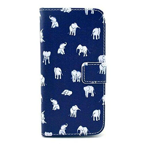 Monkey Cases® iPhone 6 4,7 Zoll - Flip Case - ELEFANTEN - Premium - original - neu - Tasche - elephants #2