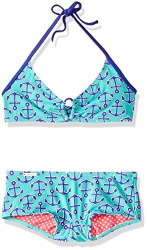 98 Coast Avenue 01XL1641VKG - Anclas Azul Traje de baño de niña de dos piezas talla XL (8 a 10 años)