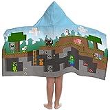 Jay Franco Minecraft Overworld Adventure Toalla de Playa con Capucha, Color Azul