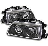 honda crx black - ZMAUTOPARTS Honda Crx Civic Halo Projector Headlights JDM Black CX DX LX Rt SE Hf Si