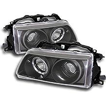 ZMAUTOPARTS Honda Crx Civic Halo Projector Headlights JDM Black CX DX LX Rt SE Hf Si