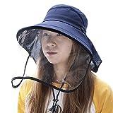 Ladies Summer Sun Hat Rollup Visor SPF Protection