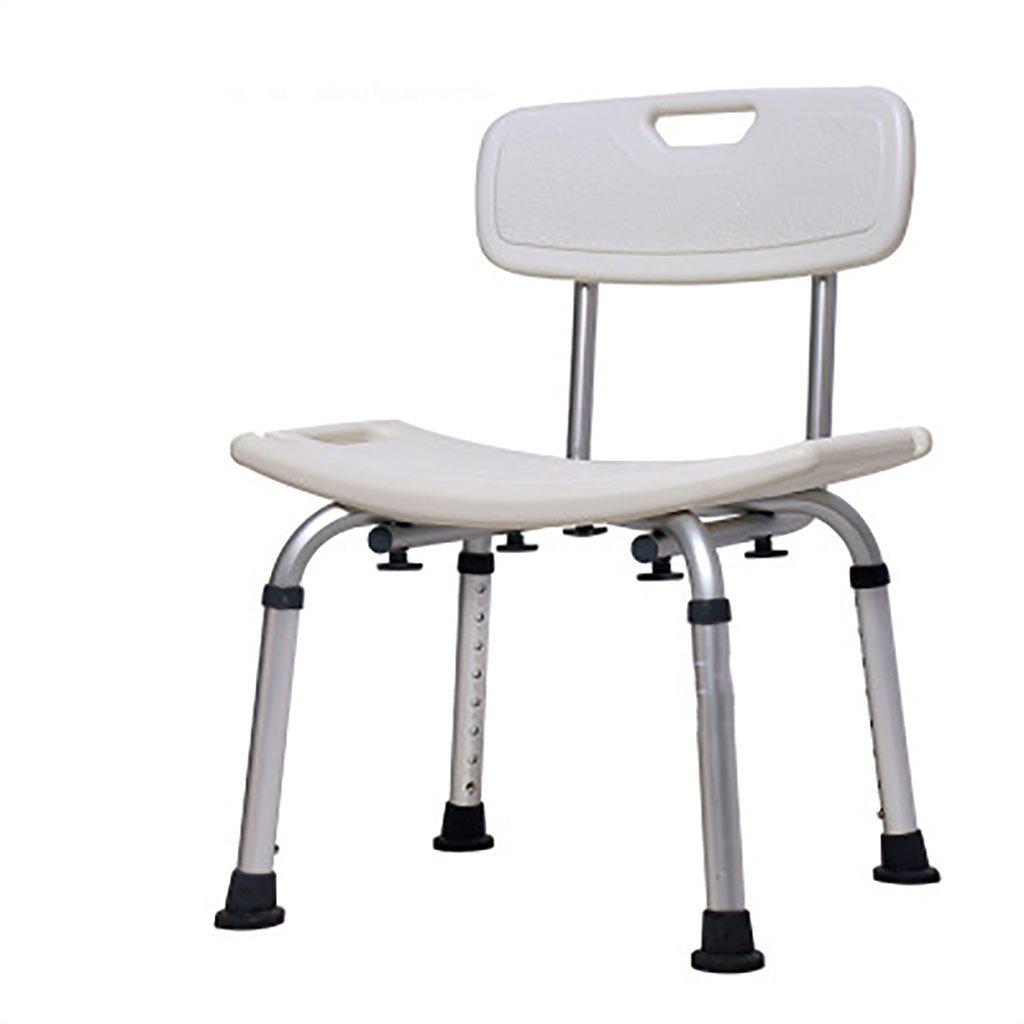 シャワースツール\シャワーチェア バスルームスツールアルミシャワーチェア障害援助ノンスリップバスチェア8高齢者、身体障害者、妊婦、高さ調節可能な高さ バスシートベンチ\バススツール B07DXR82KN