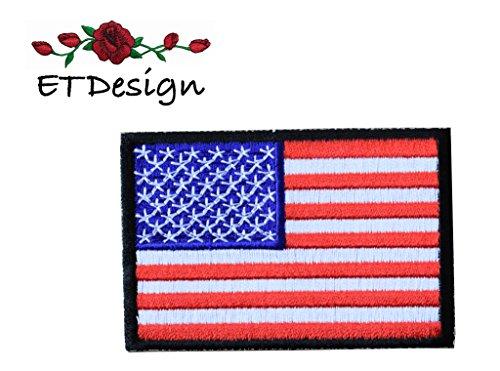 ag,USA Flag Black Border Embroidery Patch 3