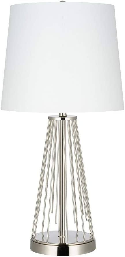 Amazon Brand – Rivet Mid-Century Modern Metal Starburst Table Lamp, LED Bulb Included, 24.5