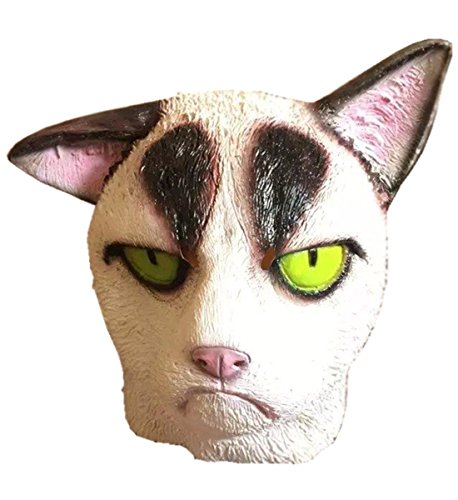 Gmasking 2016 Grumpy Cat Adult Head Mask Halloween Costume Parties+Gmask (Grumpy Cat Halloween Mask)