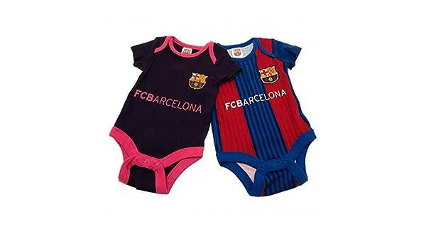 FC BARCELONA bebé KIT , 2 paquete cuerpo bebé camiseta casa ...