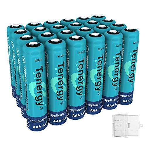 Combo: 24 pcs Tenergy AAA 1000mAh NiMH Rechargeable Batterie