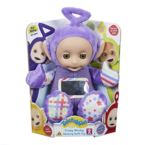 Teletubbies 6797 Tinky Winky Sensory Soft Toy, Multi-Colour -