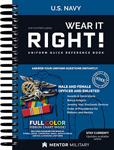 Wear It Right! - US Navy Uniform Quick Reference Book