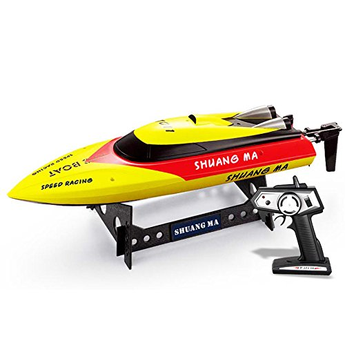 Babrit Elite 2.4GHz Remote Control Electric Boat High Speed RC Boat Duarable Battery Play on Water - Yellow (Only Works In Water) (Rc Boats Gas Fast 100 Mph compare prices)
