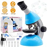 Microscope for Kids Beginner Children Student, 40X- 640X Science Microscopes with 50 pcs Educational Science Kits -Great gift for child
