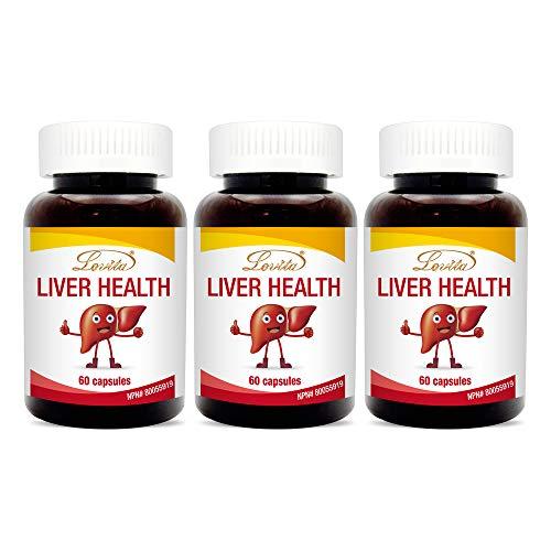 Lovita Liver Health, Milk Thistle, Turmeric Extract, DL-Alpha-Lipoic Acid, Schisandra, 60 Capsules Pack of 3