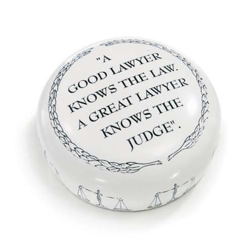 Lawyer gift desk paperweight