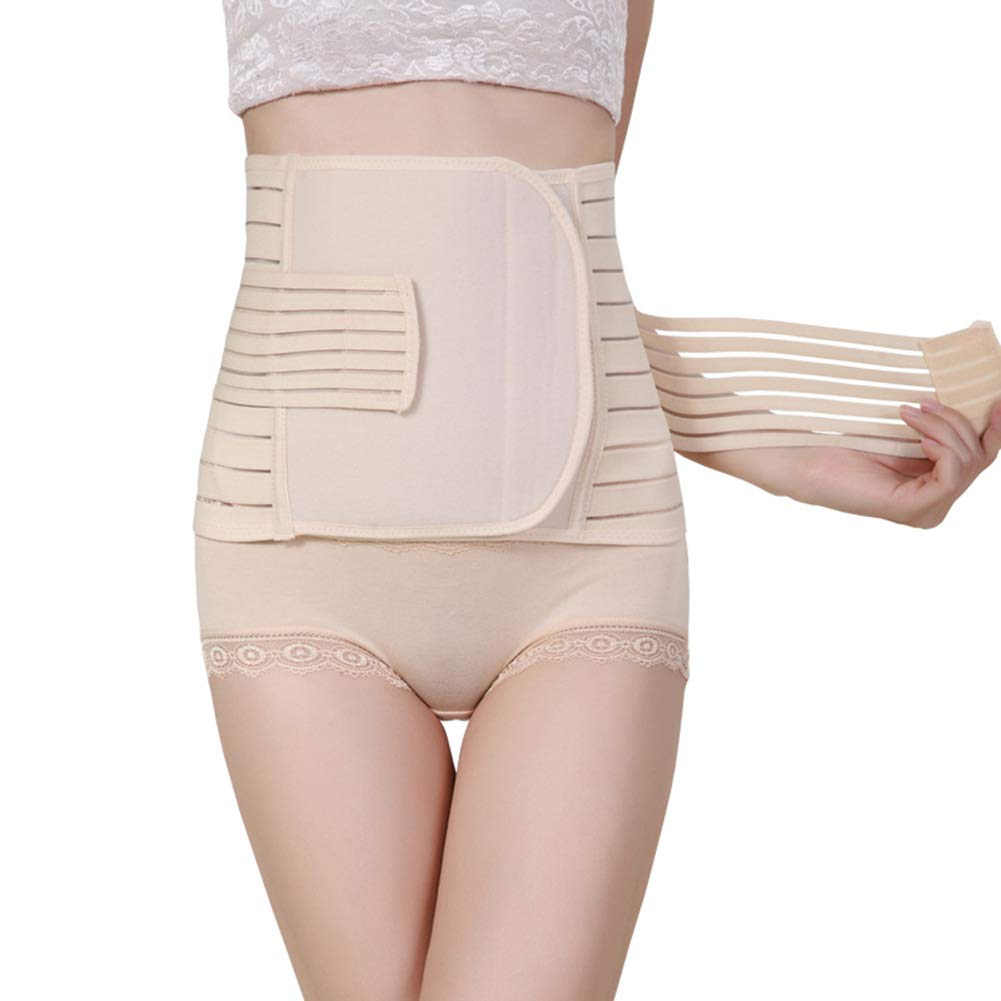 Ainrenz Postpartum Girdle Corset, Women Postpartum Girdle Corset Recovery Belly Band Wrap Belt,Abdominal Binder Waist Slimmer Maternity Shapewear Waist Trainer Adjustable