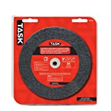 Task Tools T35635 6-Inch by 3/4-Inch Aluminum Oxide Bench Grinding Wheel, 80 Grit, 1-Inch Arbor