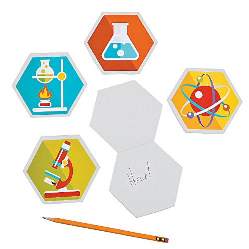 Fun Express - Science Party Laboratory Notepads for Birthday - Stationery - Notepads - Misc Notepads - Birthday - 12 Pieces]()
