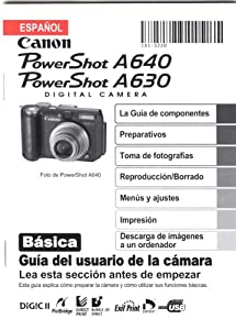 Canon PowerShot A640 PowerShot A630 Basic Camera User Guide (Spanish) Canon
