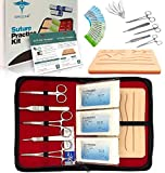 Suture Practice Kit w Suturing Guide E-Book,[Large