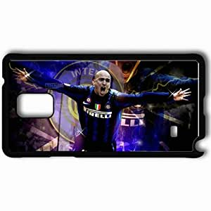 Personalized Samsung Note 4 Cell phone Case/Cover Skin 19 E Cambiasso Argentina Esteban Matias Cambiasso Inter Football Black