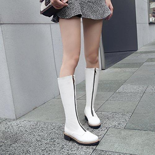 1 Short Razamaza Calf Stivali Donna White Zipper Mid Moda x8S8zwqA