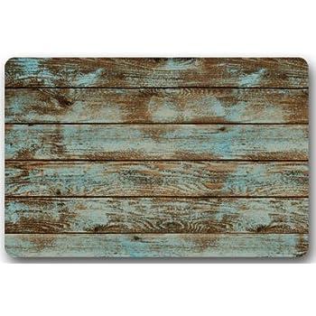 Amazon.com : Rustic Old Barn Wood Door Mats Cover Non-Slip Machine ...