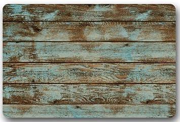 Amazon Com Zblx Rustic Old Barn Wood Door Mats Indoor Bathroom