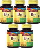 Nature Made Vitamin B12 500 mcg, 200 Count (5 Bottles)