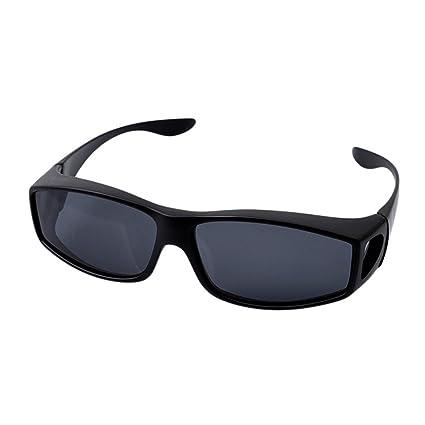unke más gafas de sol para hombres mujeres polarizadas lente, colocar sobre gafas de prescripción