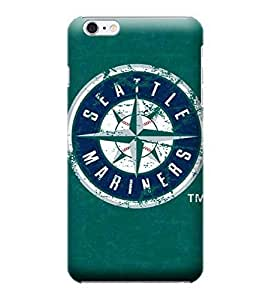 iPhone 6 Plus Case, MLB - Seattle Mariners- Alternate Solid Distressed - iPhone 6 Plus Case - High Quality PC Case