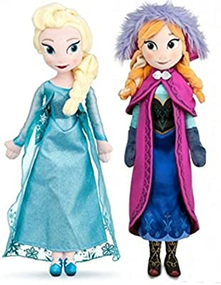Frozen - Muñecas blandas de Elsa y Anna (pack de 2 muñecas, 50 cm ...