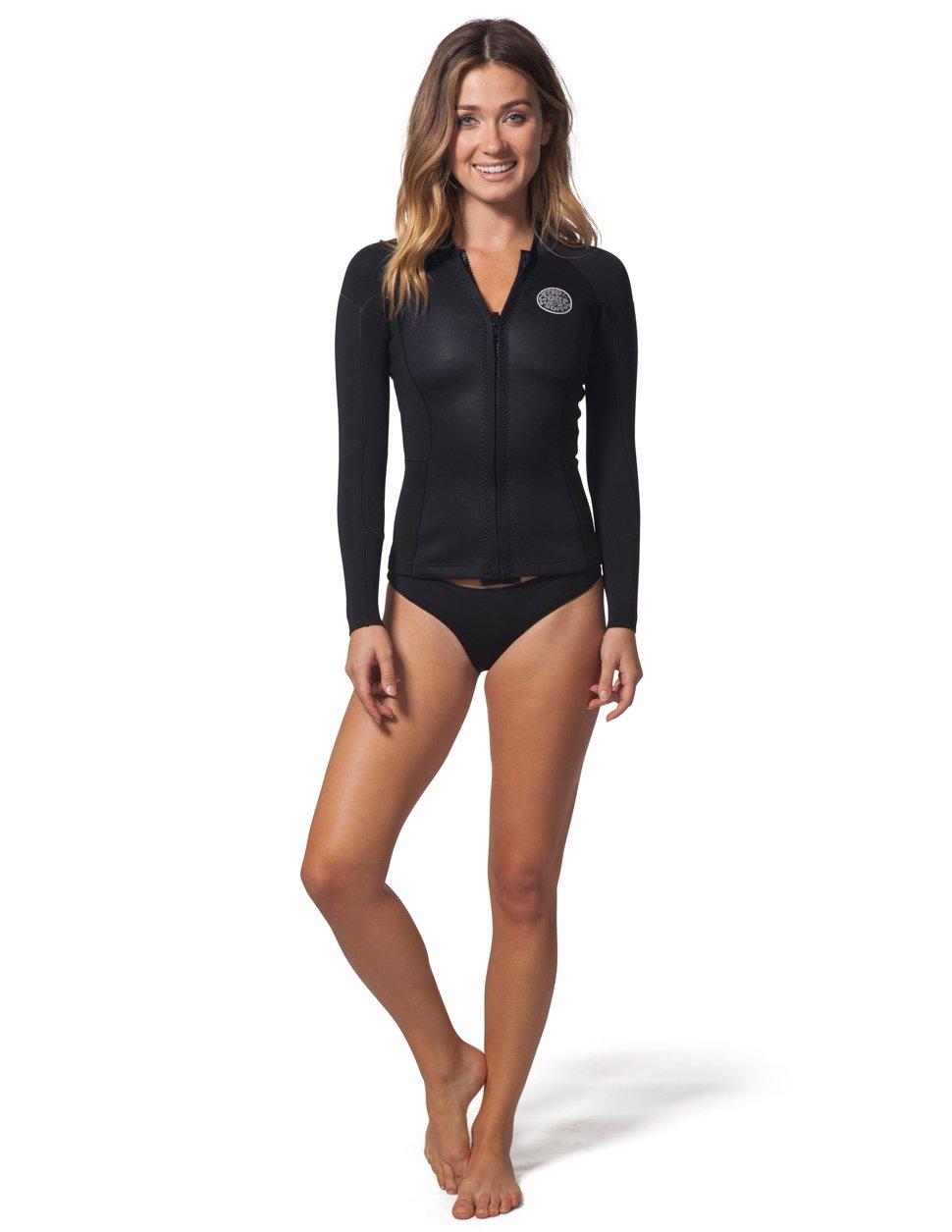 Rip Curl Dawn Patrol Long Sleeve Wet Suit Jacket, 10, Black by Rip Curl