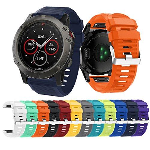 Garmin Fenix 5X Watch Band, MoreToys Silicone Sports Wrist Band Replacement Accessory Straps Bracelet for Garmin Fenix 5X Smart Watch