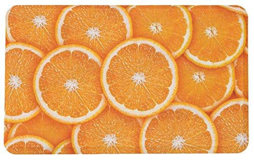 Michael Anthony Furniture Premium Anti Fatigue Memory Foam Kitchen Comfort  Mat Oranges (18u2033 X 30u2033)
