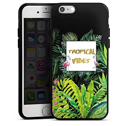 Apple iPhone 6 Silikon Hülle Case Schutzhülle Muster ohne Hintergrund Flamingo Dschungel