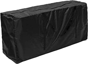 Patio Cushion Storage Bag Outdoor Cushion Cover Patio Protective Bags Zippered with Handles 68x30x20 Inches Furniture Cover Waterproof Cover Storage Bag Black